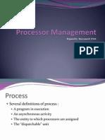 3.2 Processor Management