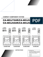 JVC MXJ Compact Component System Manual
