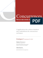 L'application des critères Daubert au contentieux de concurrence en france