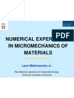 Numerical experiments in mechanics  of materials
