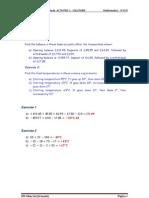 UNIT 1 (Act 1+Sol) Fractions and Decimals (3º ESO)