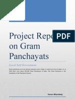 Project Report on Gram Panchayats