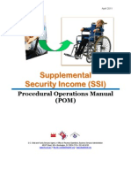 DC CFSA Supplemental Security Income Procedural Operations Manual (April 2011)