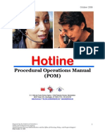 DC CFSA CPS Hotline Procedural Operations Manual (Oct 2009)