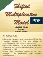 navdeep singh jamwal - Shifted Multiplicative Model