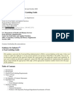 ETIQUETADO FDA (Labeling Guide)
