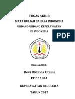 Bahasa Indonesia UU Perawat