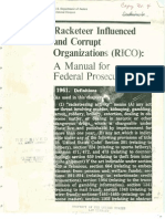 USDOJ RICO Manual of Federal Prosecutors-1993