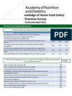 Home Food Safety Behaviors 2011