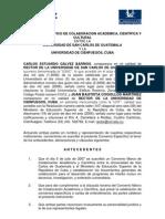 Convenio Específico de Colaboracion Académica, Científica y Cultural entre la Universidad de San Carlos de Guatemala y la Universidad de Cienfuegos, Cuba.