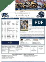 Week 4 - Rams vs. Seahawks