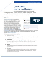 Facebook + Journalists: Tools for Covering the Elections
