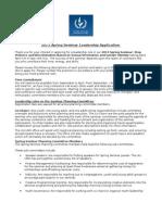 2013 Spring Seminar Leader Application - Copy