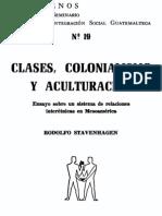 Stavenhagen, Rodolfo (1968) Clases, colonialismo y aculturación