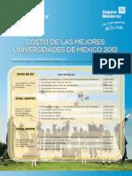 Costo de las Mejores Universidades en México en 2012