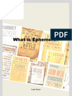 What is Ephemera