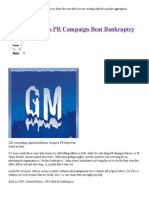 How GM India's PR Campaign Beat Bankruptcy Abroad _ Image Management