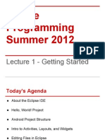 Lecture 1 - Getting Started