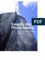 Simplify Mobile Phone Testing