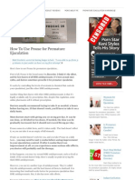 How to Use Prozac for Premature Ejaculation