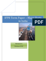 Major Ports of India - A detailed study and ranking model