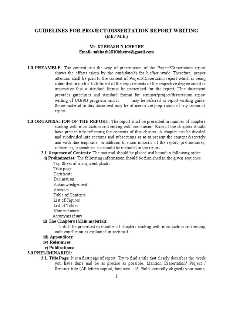 Phd dissertation summary