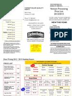 2012 Tiefenthaler Quality Meats Deer Brochure