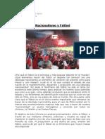 Nacionalismo y Fútbol