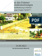 Aus den Eslarner Gemeinderatssitzungen, 25.09.2012