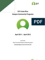 GVI Quepos Annual Report April 2011 to April 2012