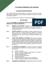 Ordenanza de Patente Municipale de AZOGUEZ