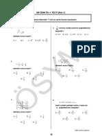 2007 ÖSS Birinci Bölüm Matematik Testi