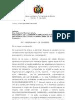 Carta Al Senado Nacional