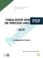 TABULADOR GDF  MARZO 2102