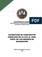 EXTRACCIÓN DE COMPUESTOS FENÓLICOS DE LA UVA AL VINO-PAPEL DE LOS ENZIMAS DE MACERACIÓN