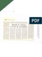 """""""Quando la violenza si veste di normalità"""" ( L'Unità, 6 luglio 1979)"""