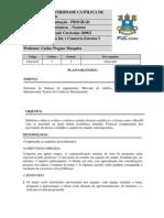 Ecomia Internacional e Comércio Exterior  I_plano de ensino 2012.2_carlos wagner