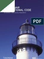 Esomar Icc-esomar Code English