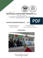 Boletín Rotario del 25 de septiembre de 2012