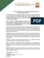 COMUNICADO DE DENUNCIA ANTE PERSECUCION E INTIMIDACION CONTRA DEFENSORA DE DERECHOS HUMANOS EN BOLIVIA