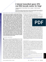 Schoch Et Al., 2012. OOOO ITS Universal DNA Barcode Fungi
