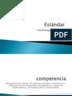 Estandar, Competencia e Indicadores de Desmpeño del Cuarto Periodo