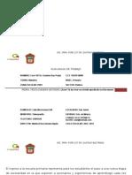 Plan Anual de Trabajo de Primer Grado Grupo a Ford 107
