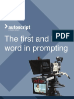 Auto Script Brochure