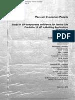 Vacuum Isolatie Annex 39 Report Subtask-A