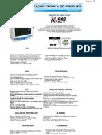 Espeficicação Técnica - Monitor de Sinais Vitais MX-600 - EMAI-Transmai