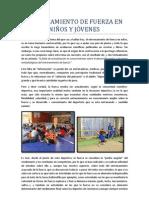 Entrenamiento de fuerza en niños y jóvenes