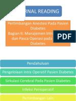 Pertimbangan Anestesi Pada Pasien Diabetes