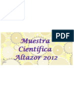 Afiche Muestra Científica Altazor 2012