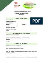 HOSPEDAGEM SOLIDÁRIA (FICHA CADASTRAL-ANFITRIÃO)